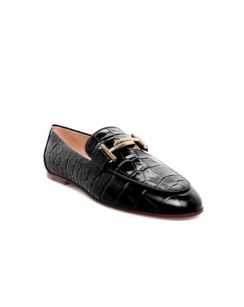 TOD'S - Crocodile Leather Moccasin - Black