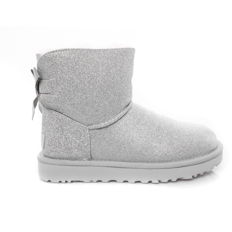 UGG - Mini Bailey Bow SPARKLE Boot - Sparkle Silver