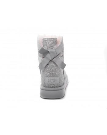 UGG - Mini Bailey Bow SPARKLE Boot - Sparkle Silver