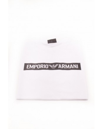 EMPORIO ARMANI - Logo Cotton T-Shirt - White