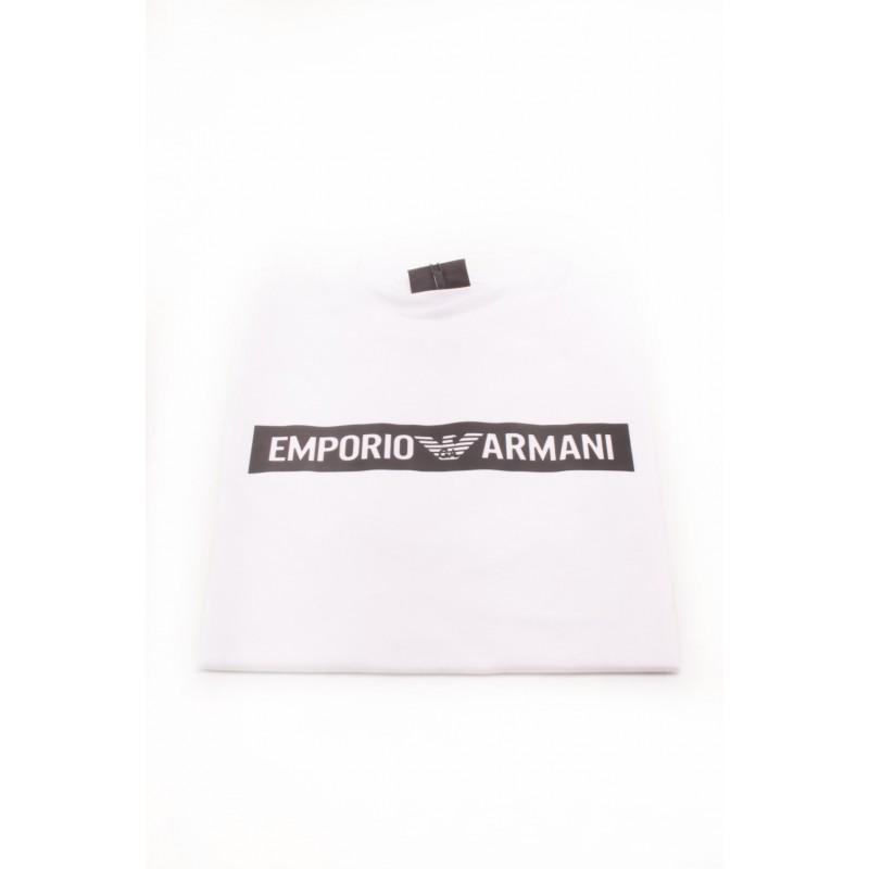 EMPORIO ARMANI - T-Shirt in cotone con Logo - Bianco