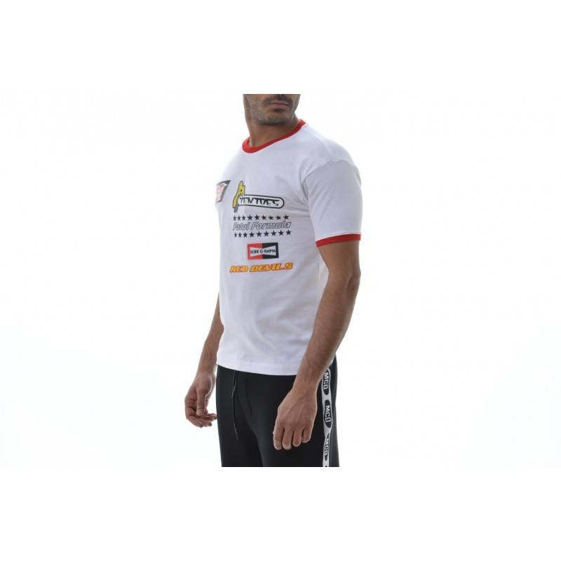 MCQ BY ALEXANDER MCQUEEN -  Cotton Printed T-Shirt   - White