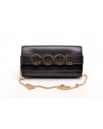 MICHAEL BY MICHAEL KORS -   Borsa Clutch BELLAMIE in pelle con LOGO - Nero