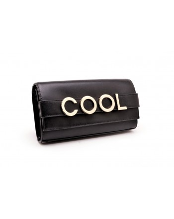 MICHAEL BY MICHAEL KORS -   Leather clutch BELLAMIE with Logo - Black