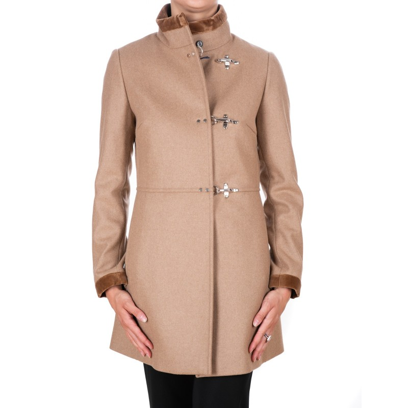 buy online 40a7e e24d4 FAY - Wool and Cahmere VIRGINIA Coat with Frogs - Rope Brown