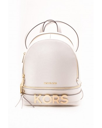 MICHAEL BY MICHAEL KORS - RHEA  leather backpack - White