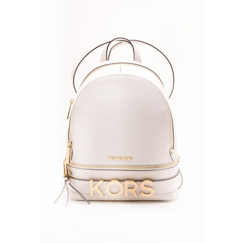 MICHAEL BY MICHAEL KORS RHEA leather backpack White