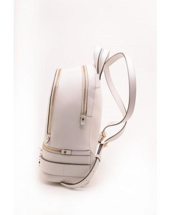 MICHAEL BY MICHAEL KORS - RHEA  leather backpack - White
