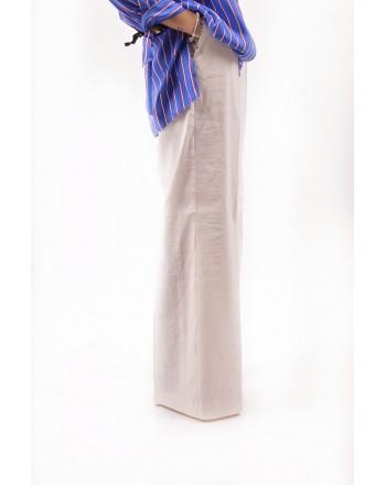 PINKO -  Pantalone LUIGIA in lino - Bianco