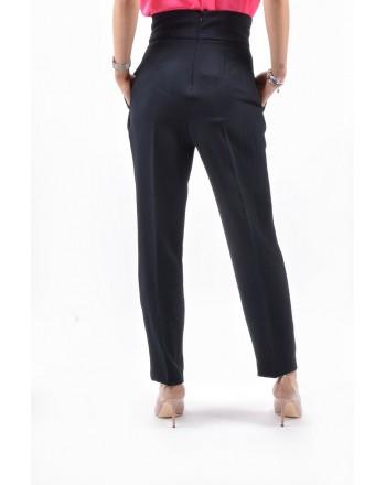 PINKO - Pantalone LUIGIA in lino - Nero