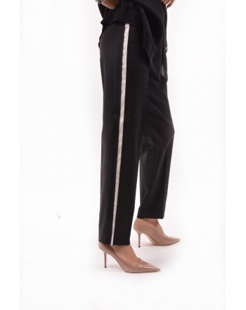 CALVIN KLEIN - Jogging Style Trousers with Side Band - Black