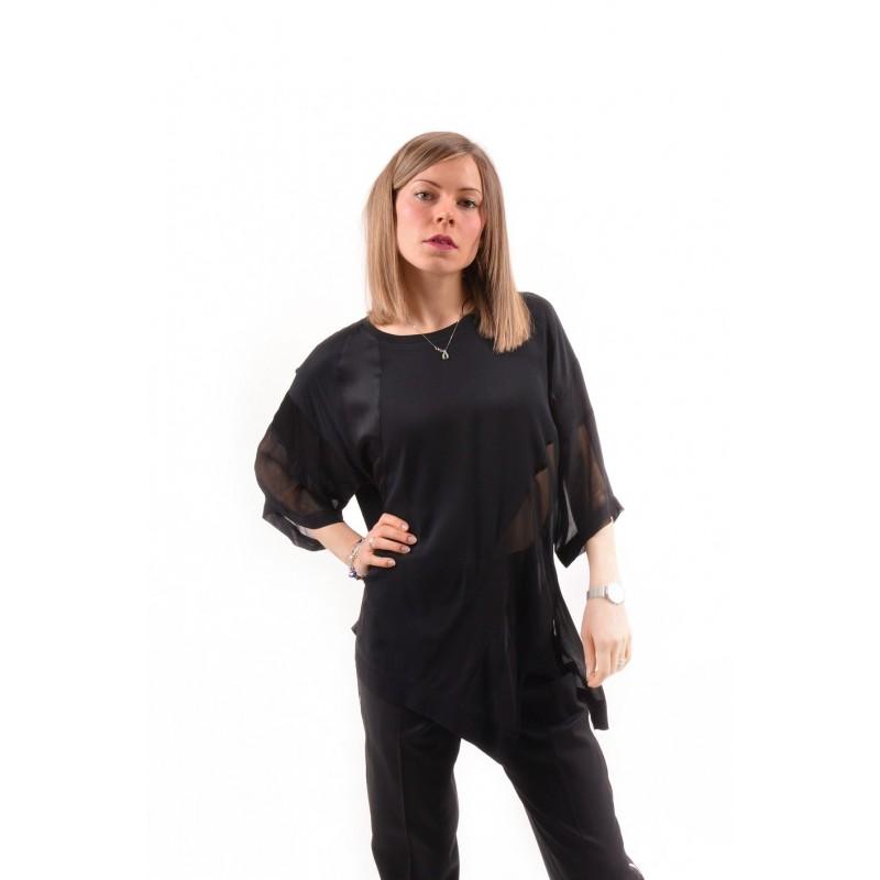 PINKO - SELENA blousein viscose - Black