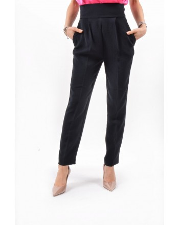 PINKO - Viscose Double Trousers  NATALIA - Black