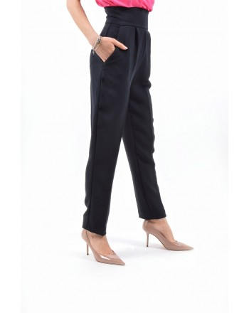 PINKO - Viscose Double Trousers  NATALIA - Black