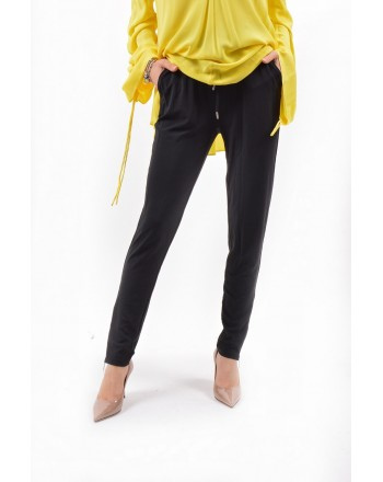 MICHAEL KORS - Viscose Trousers with Laces on Waist - Black