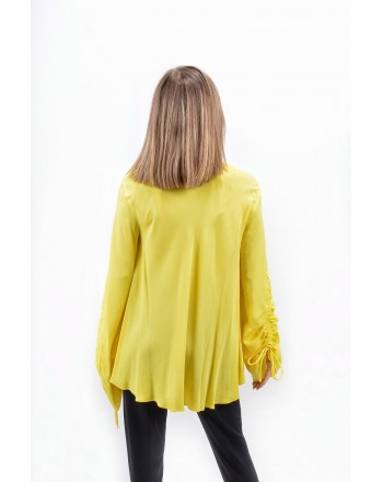 PINKO -  CECILIA blouse crepe de chine - Yellow