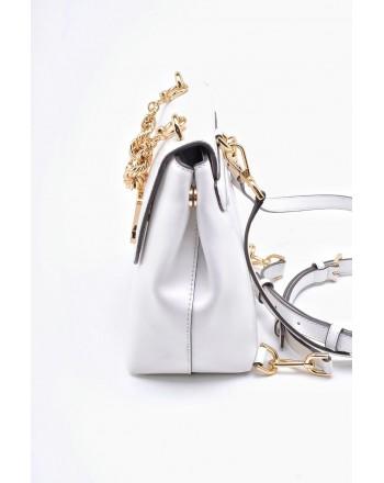 MICHAEL BY MICHAEL KORS - MOTT leather backpack small - White