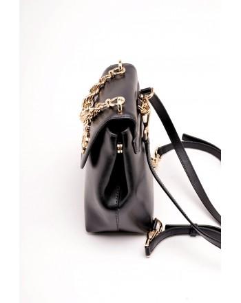 MICHAEL BY MICHAEL KORS - MOTT leather backpack small - Black