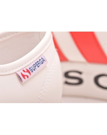 PHILOSOPHY di LORENZO SERAFINI  -  Sneakers SUPERGA for PHILOSOPHY with Logo Sole - White/Red