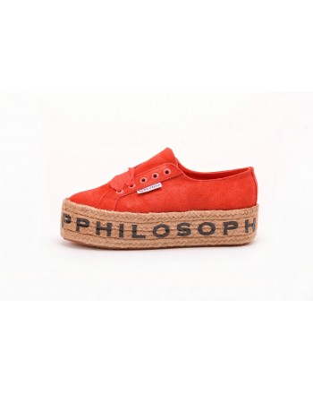 PHILOSOPHY di LORENZO SERAFINI  -  Sneakers SUPERGA for PHILOSOPHY with Rope Sole - Tangerine
