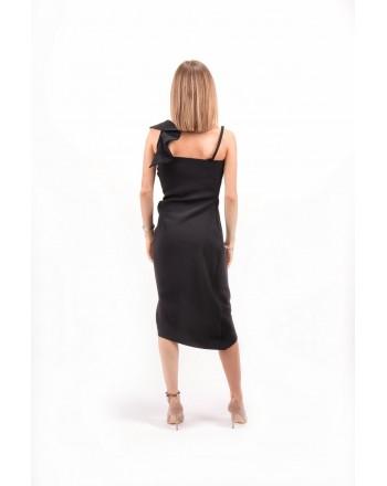 PINKO - Poly Crepe Dress ANITA - Black