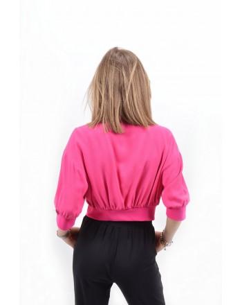 PINKO -  BOMBER MAROCAINE PICCANTE jacket - Beet