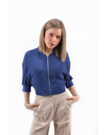 PINKO - BOMBER MAROCAINE PICCANTE jacket - Blue
