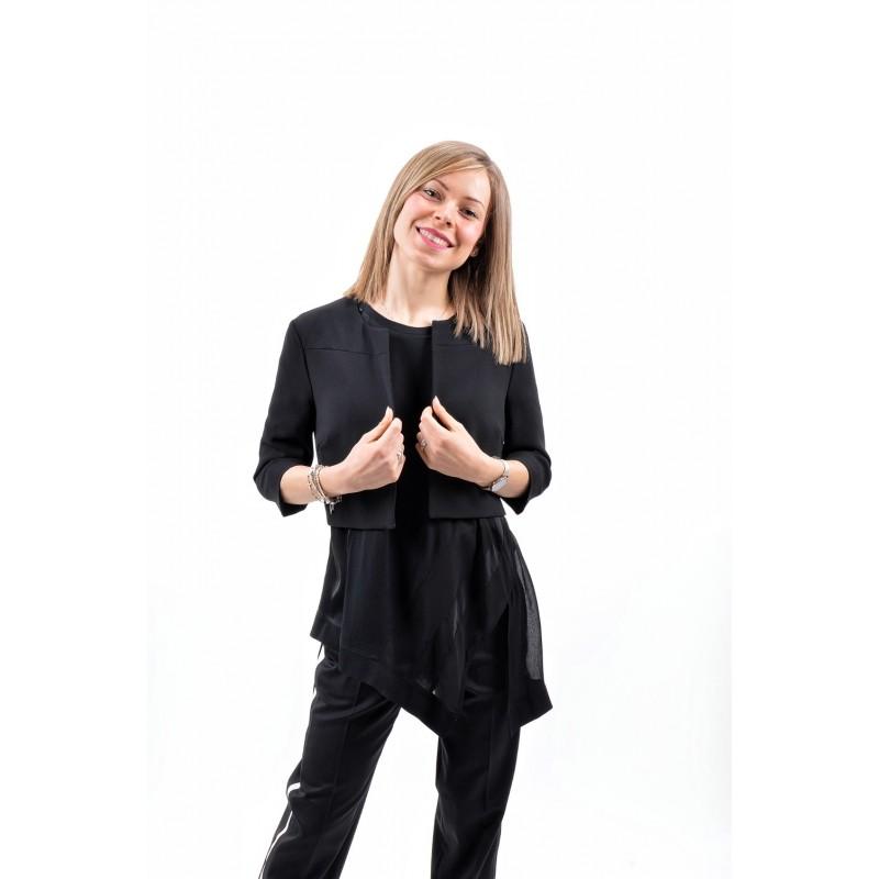 PINKO -  BARMAN 6 crepe jacket - Black