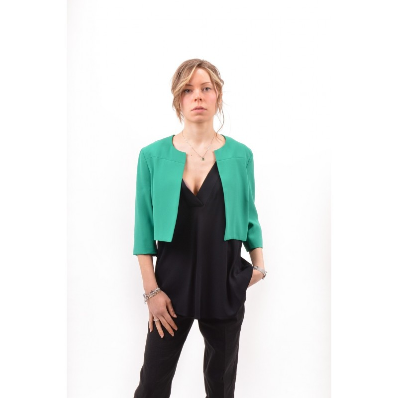 PINKO -  BARMAN 6 crepe jacket  - Green