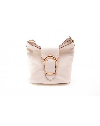 POLO RALPH LAUREN - Leather Bag BUCKET - Ivory