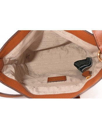 POLO RALPH LAUREN -Borsa a spalla in Pelle BUCKET - Lauren Tan