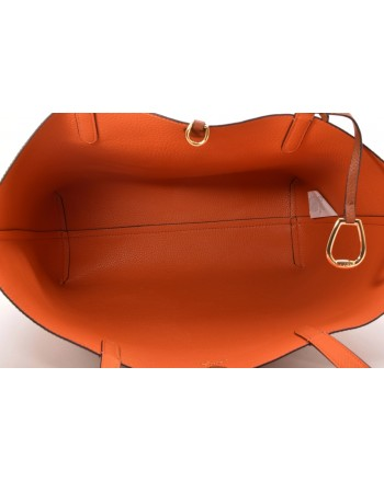 POLO RALPH LAUREN - Borsa Tote in Pelle - Lauren Tan / Arancione