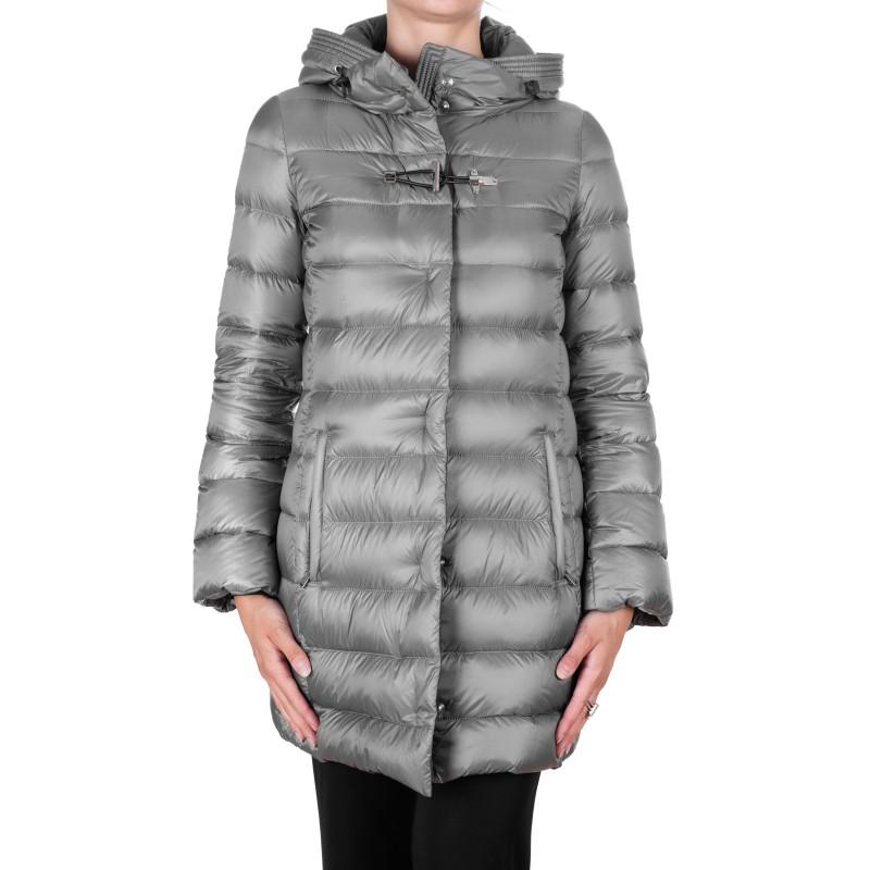 FAY - Removable Hood Down Coat - Grey