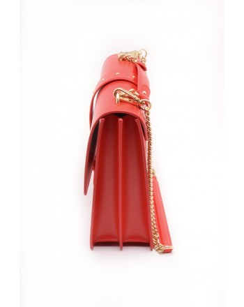 PINKO - ATTESA Briefcase bag in leather - Red