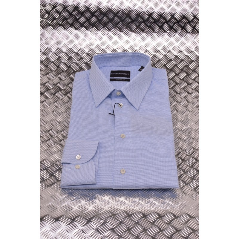 EMPORIO ARMANI - Modern Fit Shirt - Light Blue