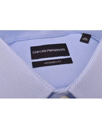 EMPORIO ARMANI - Modern Fit Shirt - Light Blue