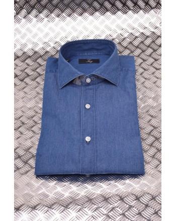 FAY - Camicia in Denim collo Francese - Denim