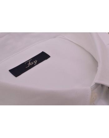 FAY - Camicia in cotone a manica Lunga - Bianco