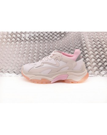 ASH - ADDICT sneakers in Nubuck and technical fabric - White/Pink