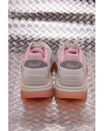 ASH - Sneakers ADDICT in Nubuck e Tessuto  tecnico - Bianco/Rosa