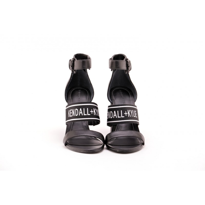 KENDALL+ KYLIE - Logo Strap JAYNE Sandal - Black