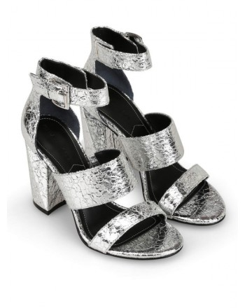 KENDALL+ KYLIE - JAYNE Craquelè Styled Sandal - Silver