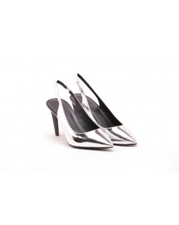 KENDALL+ KYLIE - Slingback in Pelle Specchiata KKMORA  - Silver