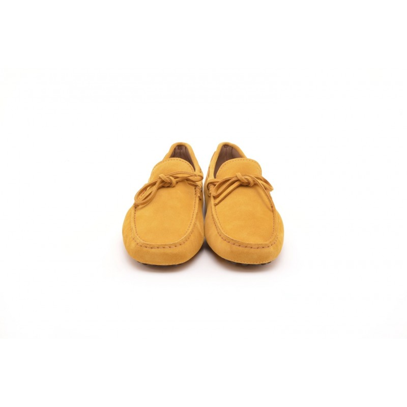TOD'S - Mocassino in suede con gommino - Giallo