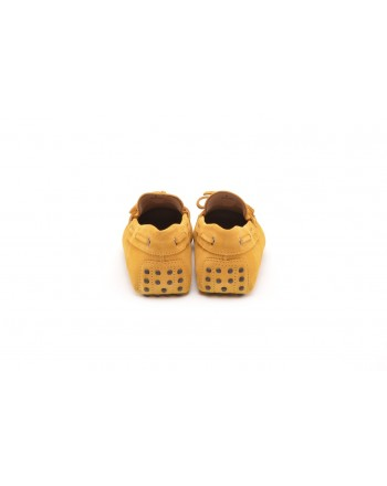 TOD'S - Suede Loafers with Gums - Yellow