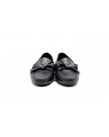TOD'S -  Gommino leather moccasin- Black