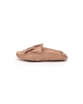TOD'S - Sabot Gommino in pelle scamosciata - Tabacco