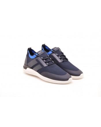 TOD'S - Sneakers in pelle e tessuto tecnico - Blu/Azzurro