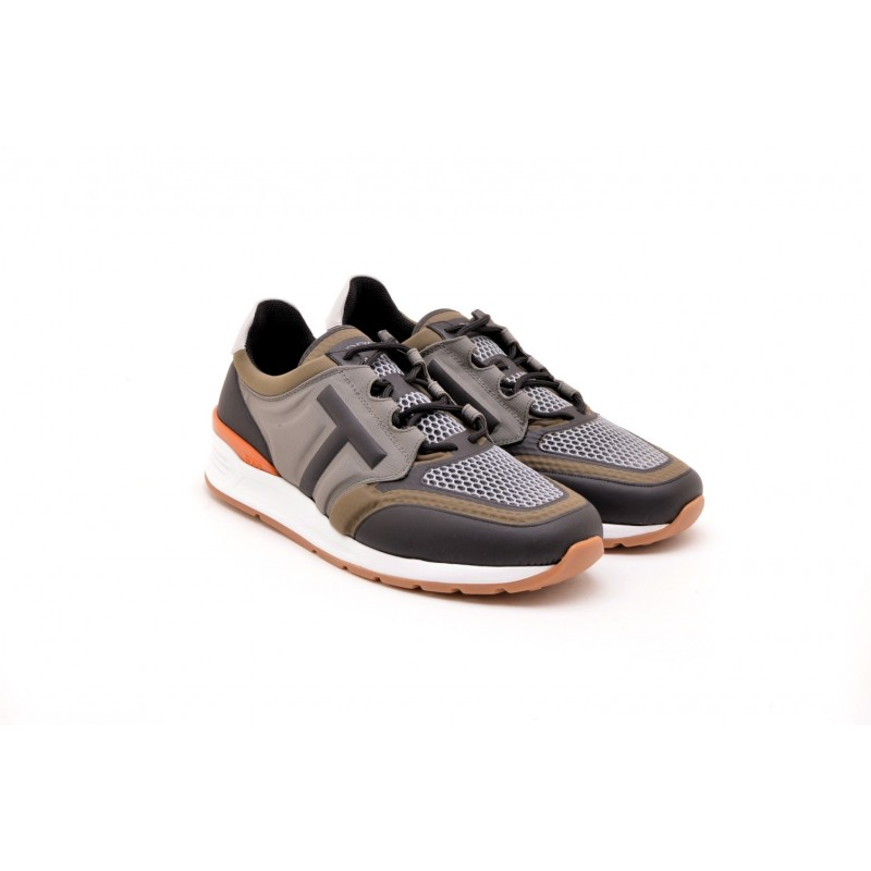TOD'S -  Sneakers in leather and technical fabric - Army