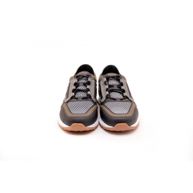 TOD'S - Sneakers in pelle e tessuto tecnico - Militare